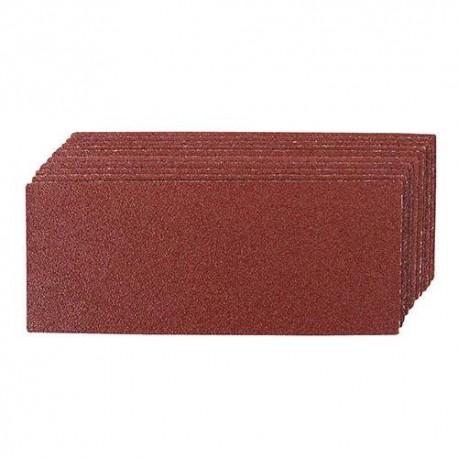 10 feuilles abrasives non-perforées 93 x 230 mm Grain 60 - 415770 - Silverline