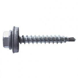250 vis autoperceuses, tête hexagonale 8 gris aluminium 4,8 x 28 mm zingué spécial bac acier - AFGR144828 - Index