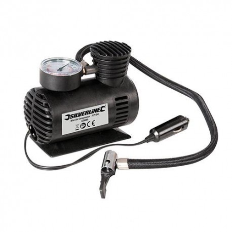Mini-compresseur d'air 12 V - 425689 - Silverline