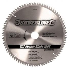 Lame de scie circulaire carbure D. 300 x 30 mm x Z : 100 pour panneaux bois - 427539 - Silverline