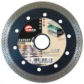 Disque diamant à croisillons D. 125 x Al. 22,23 x Ht. 10 x ép. 1,4 mm. Granit - 980125 - LEMAN
