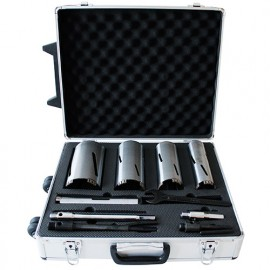Coffret de 4 couronnes diamantées avec accessoires Lu. 170 mm. Brique, béton cellulaire, siporex - VAL5200.05 - LEMAN