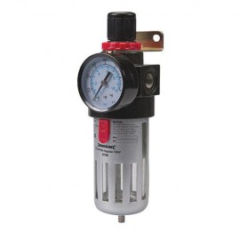 Filtre régulateur réglable de 0,5 à 8,5 bar avec réservoir 150 ml pour air comprimé - 427596 - Silverline