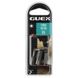 6 embouts de vissage TORX 10 à 40 x Q. Courte Héx. - 150609160 - Guex