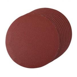 10 disques abrasifs non-perforés auto-agrippants D. 180 mm Grain 120 - 427660 - Silverline