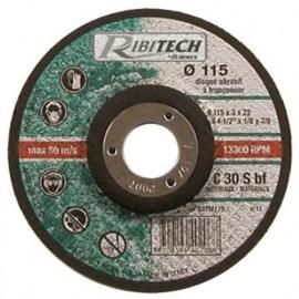 Disque à tronçonner les matériaux à moyeu déporté D. 115 x 3,2 x 22,2 mm - PRDATM115 - Ribitech