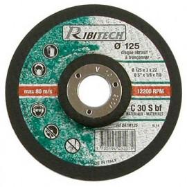Disque à tronçonner les matériaux à moyeu déporté D. 125 x 3,2 x 22,2 mm - PRDATM125 - Ribitech