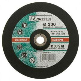 Disque à tronçonner les matériaux à moyeu déporté D. 230 x 3,2 x 22,2 mm - PRDATM230 - Ribitech