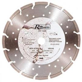 Disque diamant segmenté laser D. 125 mm Al. 22,23 mm pour acier et matériaux - DDS125MA - Ribitech