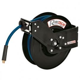 Dévidoir automatique à air 16 m - 9,3 x 15,3 mm tuyau gomme/pvc support métal - PRDATRM16 - Ribitech