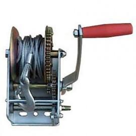 Treuil à manivelle 1 vitesse 1080 kg câble 10 m x 4,5 mm - PRTRM1000 - Ribitech