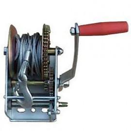 Treuil à manivelle 2 vitesses 2200 kg câble 10 m x 5 mm - PRTRM2000 - Ribitech