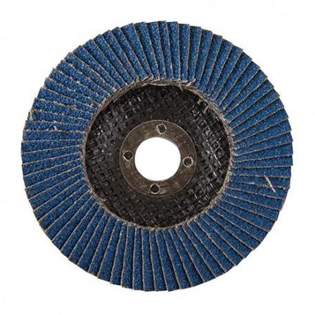 Disque à lamelles en zirconium D. 125 mm Grain 60 - 427696 - Silverline