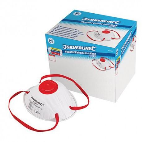 Boîte présentoir de 10 masques respiratoires moulés à valve FFP3 NR - 427698 - Silverline