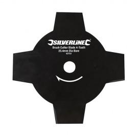 Lame pour débroussailleuse D. 240 x 25,4 mm x Z : 4 - 427721 - Silverline