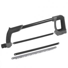 Scie à métaux 30 cm PRO + 3 lames : 1 bois, 1 métaux fins, 1 métaux épais - PRSCM30PRO - Ribitech