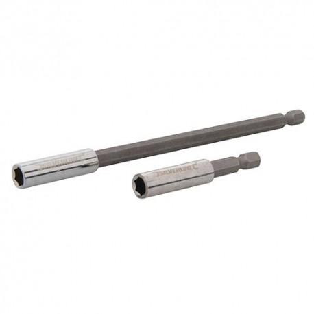 2 porte-embouts de vissage magnétiques L. 60 et 150 mm - 436745 - Silverline