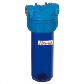 "Filtre à eau 9"" 3/4 anti UV 3 pièces vide, fil 3/4"" - PRFIL9SV3UV - Ribitech"