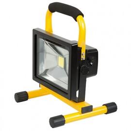 Projecteur à LED 20 W 230 V - 1200 lumens à batterie Li-ion portable - PRSPOT20PBAT - Ribitech