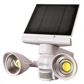 Spot solaire 2 x 5 W LED, 800 lumens, avec détecteur - PRSPOTSOL5X2 - Ribitech