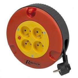Enrouleur électrique 5 mètres HO5VV-F - 3 x 1,5 mm2 - PREE05315 - Ribitech