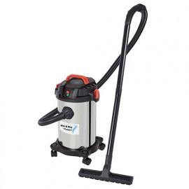 Aspirateur eau et poussières ASPIRIX15 - 1000 W 230 V - bidon 15 L inox - PRASP15LX - Ribitech