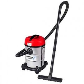 Aspirateur eau et poussières ASPIRIX25 - 1200 W 230 V - bidon 25 L inox - PRASP25L - Ribitech