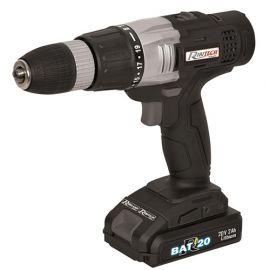 Visseuse / Perceuse à percussion R-BAT20 2 batteries Li-ion 20 V, 1 x 2 Ah + 1 x 4 Ah + accessoires - PRBAT20/PRO - Ribitech