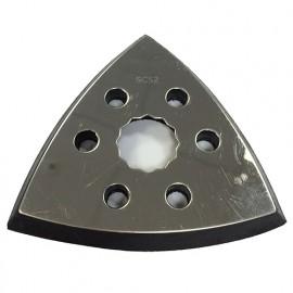 2 patins de ponçage triangulaire 93 mm velcro perforé pour outils oscillants SuperCut - ZOS00250 - Labor