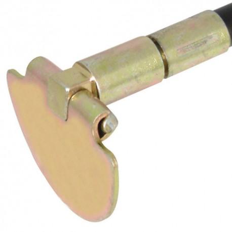 Raclette articulée avec tête 100 mm pour canne de ramonage / curage - 447122 - Silverline