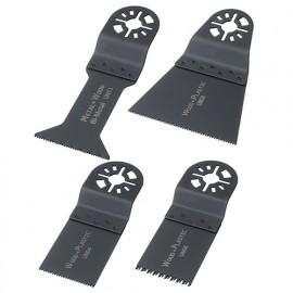 Assortiment 4 pcs de lames de scie oscillante universelle - Métal et bois - ZOUSET2 - Labor