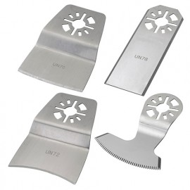 Assortiment de 4 couteaux de scie oscillante universelle Inox - Résidus colle, peinture, joint - ZOUSET6 - Labor