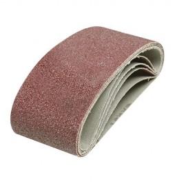 5 bandes abrasives corindon 65 x 410 mm Grain 40 - 455872 - Silverline