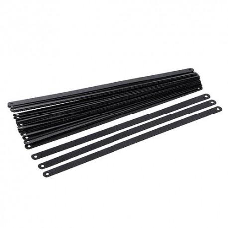 24 lames pour scie à métaux acier carbone L. 300 mm 24 TPI - 456789 - Silverline