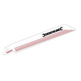 5 lames de scie sabre, Pas de 1,4 mm LU 150mm 18 TPI pour métal non ferreux - 456919 - Silverline