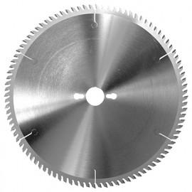 Lame circ. carbure fine à format D. 150 x Al. 30 mm. x 48 dents alt. pour PVC et pléxiglas - 355.150.3048 - Leman