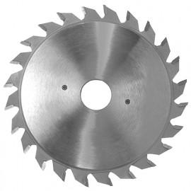 Lame carbure incis. extens. D. 100 X ép. 2.8-3.6 x Al. 20 mm. 2x12 plates pour panneaux - 356.100.20212 - Leman