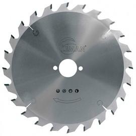 Lame carbure pour portative D. 170 x Al. 30 mm. x 24 dents alt. pour bois - 964.170.3024 - Leman