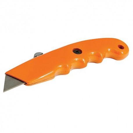 Cutter ergonomique de couleur vive à lame rétractable 140 mm - 456940 - Silverline