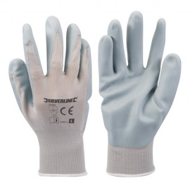 Gants nylon enduction nitrile expansé Large - 456974 - Silverline