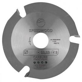 Lame multifonctions pour meuleuse D.115 x Al. 22,23 mm. 3 dents HM - SPEEDWOOD - Leman
