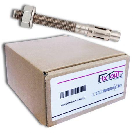 25 goujons d'ancrage Aisi 304 M10 x 90mm (D. 10 mm) Inox A2 - 862868037 - FIXTOUT