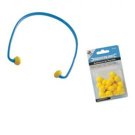 Paquet de 10 paires de bouchons d'oreilles pour arceau 245082 SNR 21 dB - 457023 - Silverline