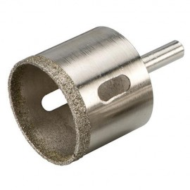 Trépan diamanté D. 12 mm pour grès cérame Lu 35 mm - 457058 - Silverline