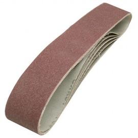5 bandes abrasives corindon 50 x 686 mm Grain 80 - 463484 - Silverline