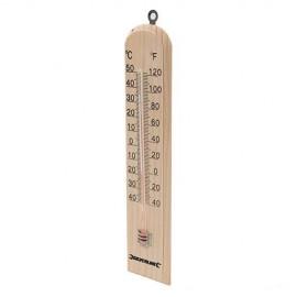 Thermomètre en bois -40°C à +50°C - 490745 - Silverline