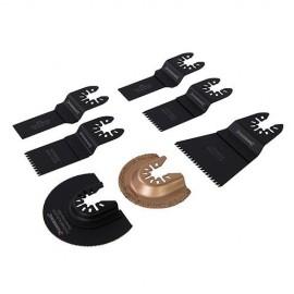Ensemble de 7 lames de coupe pour outil oscillant Silverline - 504653 - Silverline