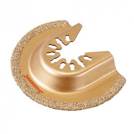 Lame de scie segment à concrétion carbure D. 65 mm pour outil oscillant - 520142 - Silverline