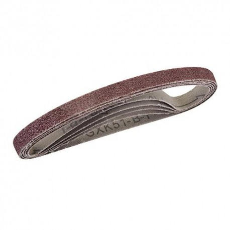 5 bandes abrasives corindon 10 x 330 mm Grain 120 - 524993 - Silverline