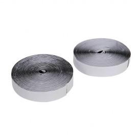 2 bobines de bandes auto-agrippantes / autocollantes 50 mm x 5 mnoires - 534608 - Fixman